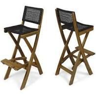 Polaris Outdoor Folding Acacia Wood Barstools  Set of 2  by Christopher Knight Home Retail 204 99