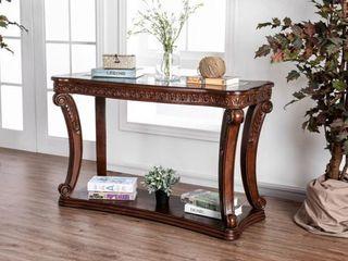 Dark Oak  Furniture of America Derg Traditional Oak Solid Wood Sofa Table Retail 513 49