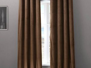 PAIR OF Drapes Signature Grommet Blackout Velvet Curtain Panels