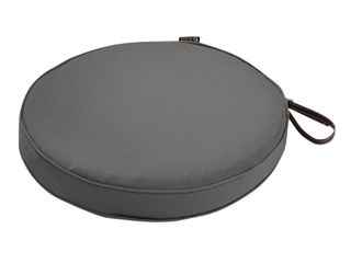 light Charcoal Grey  Classic Accessories Montlake Water Resistant 15 Dia x 2 Inch Patio Dining Seat Cushion