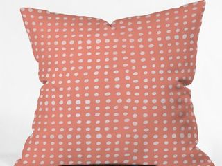 26  x 26  Deny Designs leah Flores Peach Scribble Dots Polyester Throw Pillow