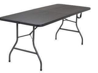 Cosco 6 Foot Centerfold Folding Table  Black