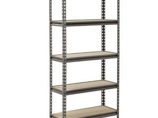 Muscle Rack 5 Shelf Steel Shelving  Silver Vein  12  D x 30  W x 60  H
