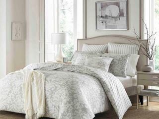 King   Grey  Stone Cottage Camden Cotton Grey Comforter Set Retail 131 74