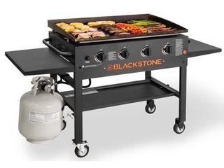Blackstone 4 Burner 36  Griddle Cooking Station with Side Shelves