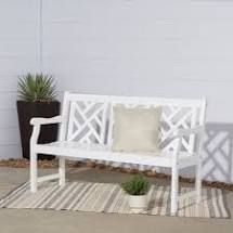 Surfside Cochran 5 foot White Outdoor Wood Bench by Havenside Home Retail 145 49