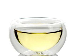 1 Piece  Teaology luna Double Wall Borosilicate Tea  Espresso Cup   1 5x2 75