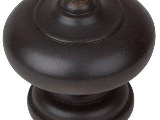 GlideRite 5 Pack 1 1 2 in  Oil Rubbed Bronze Round Mushroom Cabinet Knobs   Oil Rubbed Bronze