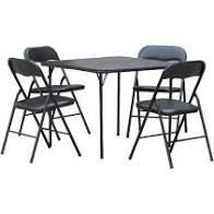 Mainstays 5 Piece Table   Chairs Set Black