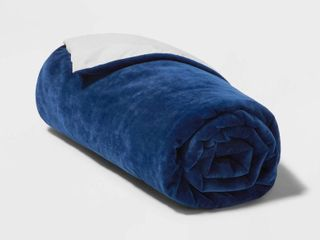 60 x40  6lbs Waterproof Removable Cover Weighted Blanket Blue   Pillowfort