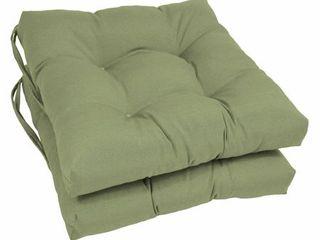 Blazing Needles 16 inch Dining Chair Cushion  Set of 2