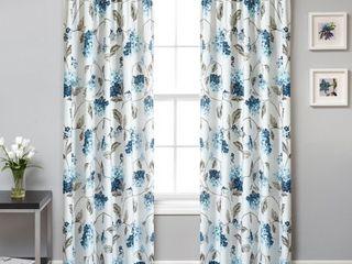 Mainstays Modern Floral Warwick Curtain Panel  Set of 2