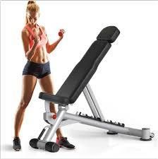 Home Adjustable Utility Bench W  4 Positions  Exercise Chart Workout Abs Incline