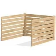 Greenes Fence RC OMP48ADK Cedar Wood Composter Add On Kit  48  l x 48  W x 31  H   309 17 gallons