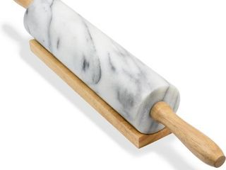 Greenco Hand Crafted Rolling Pin Marble  1 Pack