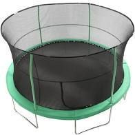 Trampoline with Outer Net   ladder  Green