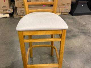 Wooden Grey Cutout Barstool
