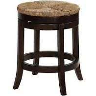 Cortesi Home Hennepin Solid Wood Backless Swivel Counter Stool  24  Straw Seat  Retail 156 49