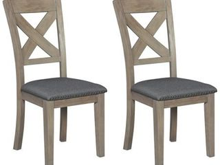 Aldwin Dining Room Chair   Set of 2   N A  Retail 163 49