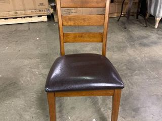 leather  Wood Single Dining Chair