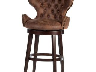 Mid City Wood and Upholstered Swivel Stool  Chocolate Retail 294 99