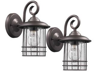 Transitional 1 light Rubbed Bronze Outdoor Wall Sconce 10  Height  2 pack