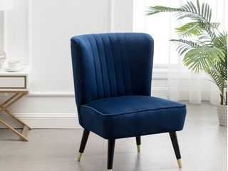 Elon Contemporary Velvet Upholstered Accent Chair Retail 158 99