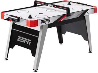 ESPN 60  Air Powered Hockey Table with Overhead Electronic Scorer  Red Black