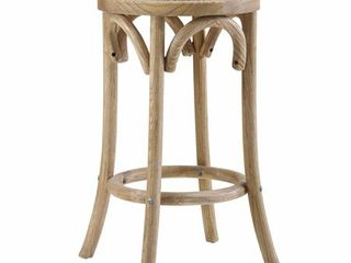 Flint Rattan Seat Backless Counter Stool   Single   Tan   Counter Height   23 28 in  Retail 146 00