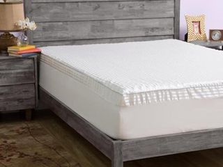 Slumber Solutions Big Comfort 3 inch Memory Foam Cal King Mattress Topper with Cover  Retail 94 49