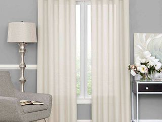 Eclipse liberty light Filtering Sheer Curtain  Set Of 2