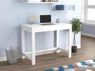 Safdie  amp  Co  Computer Desk  White  1 Compact Drawer 30 X 38In
