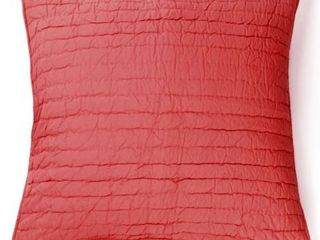 Brighton Pillow Shams Red   Standard  Set of 2