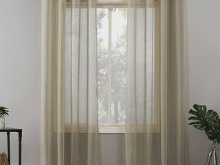 No  918 Emily Voile Sheer Grommet Curtain Panel  Pack Of 2