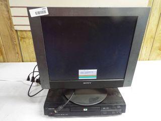 Sony computer monitor and Toshiba DVD player