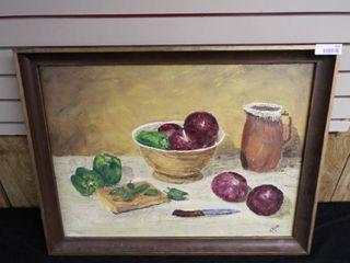 K  Root still life canvas oil painting