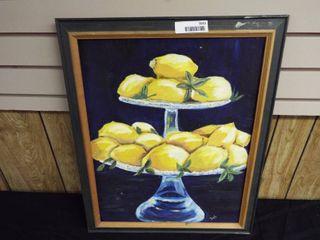 N  Tush lemons canvas oil painting
