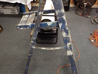 Wooden paint ladder