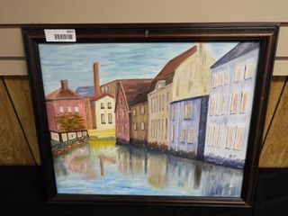N  Tush canal canvas oil painting