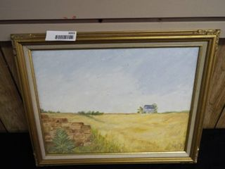 K  Root wheat field canvas oil painting