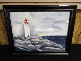 N  Tush light house canvas oil painting