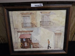 K  Root market canvas oil painting