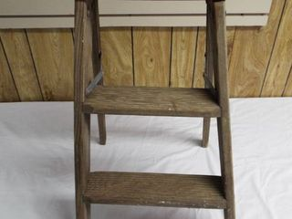 Small wooden 2  step ladder