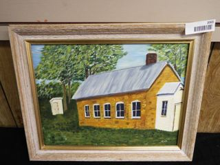 N  Tush school house canvas