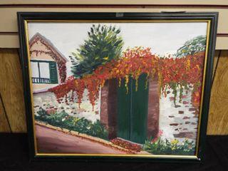 N  Tush sunlight on adobe canvas
