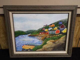 N  Tush river village canvas