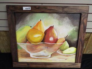 N  Tush fruit bowl canvas