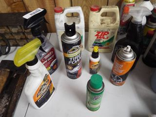 lot of automotive cleaners