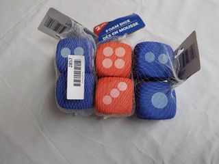 lot with 3  Packs of 2 foam dice  Brand new