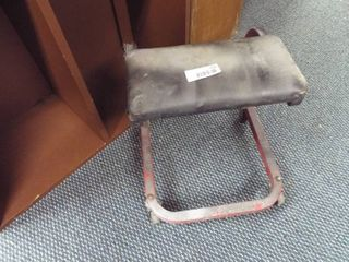 Shop stool on wheels